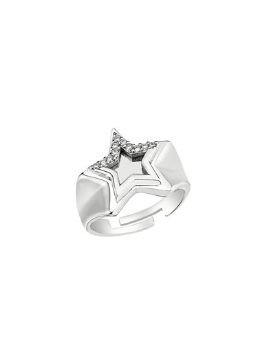 Bendis Design Taşlı Yıldız Yüzük Gümüş